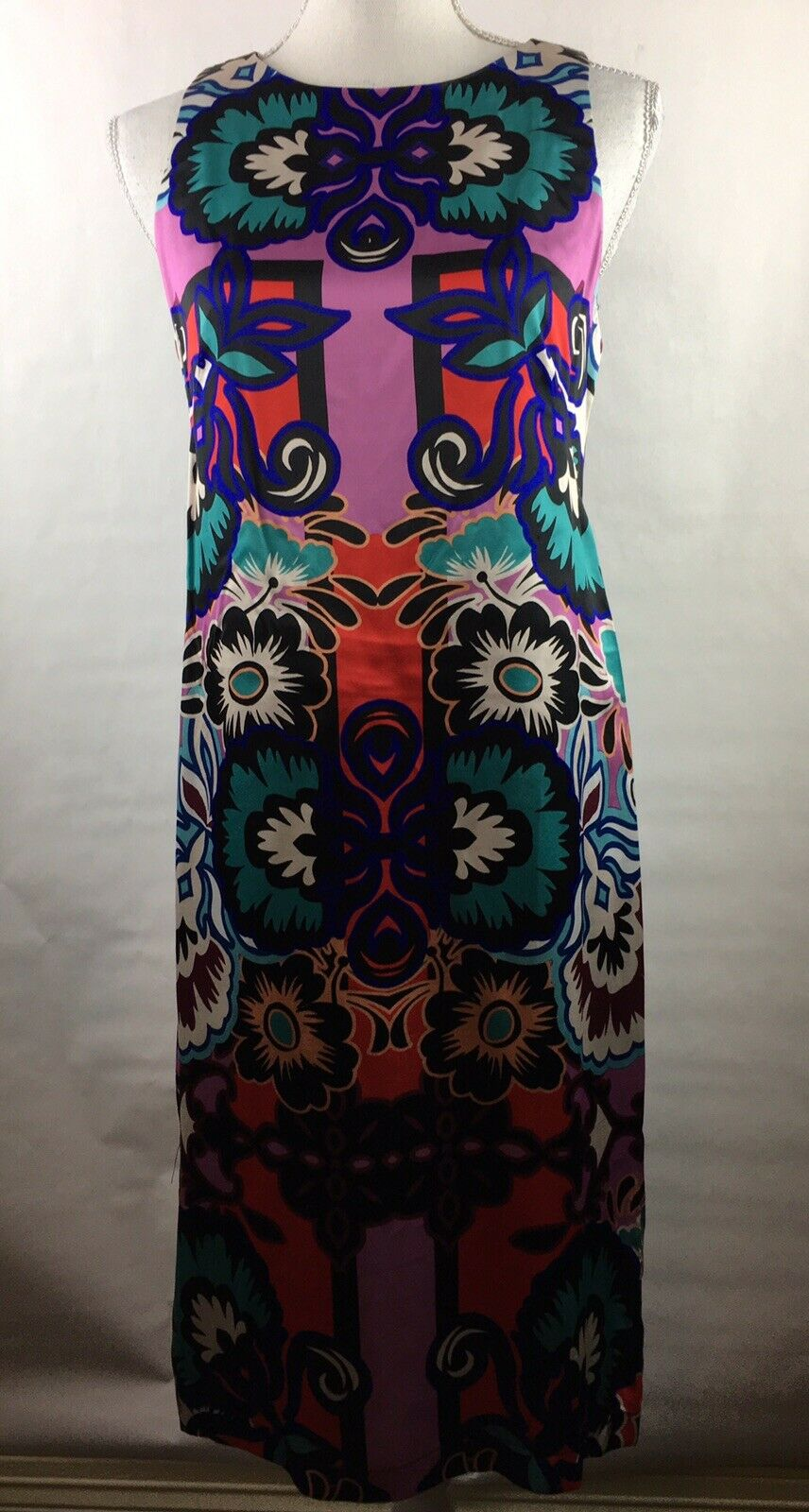 New With Tags Nanette Lepore Woherren Größe 4 Dress Multi Farbe Floral Sleeveless