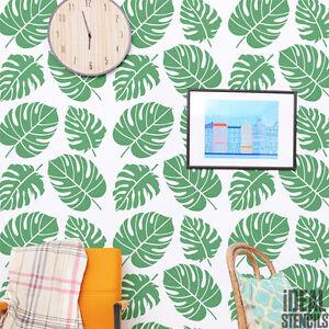 tropical feuille pochoir d cor maison gabarit peinture murale loisirs cr atifs ebay. Black Bedroom Furniture Sets. Home Design Ideas