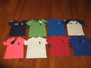 NWT Ralph Lauren Boys SS Big Pony Baseball Mesh Polo Shirt Sz 2//2t 3//3t 4//4t NEW