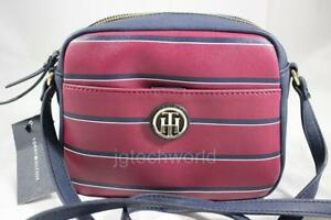 c7484ae179f New Women Tommy Hilfiger Crossbody Bag Purse Handbag Camera Striped ...