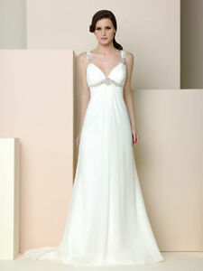 New-Straps-White-Ivory-Cheap-Wedding-Dress-Bridal-Gown-Size-6-8-10-12-14-16