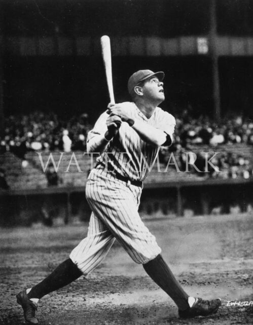 Babe Ruth Classic Home Run Swing 8x10 Press Photo NY Yankees Baseball
