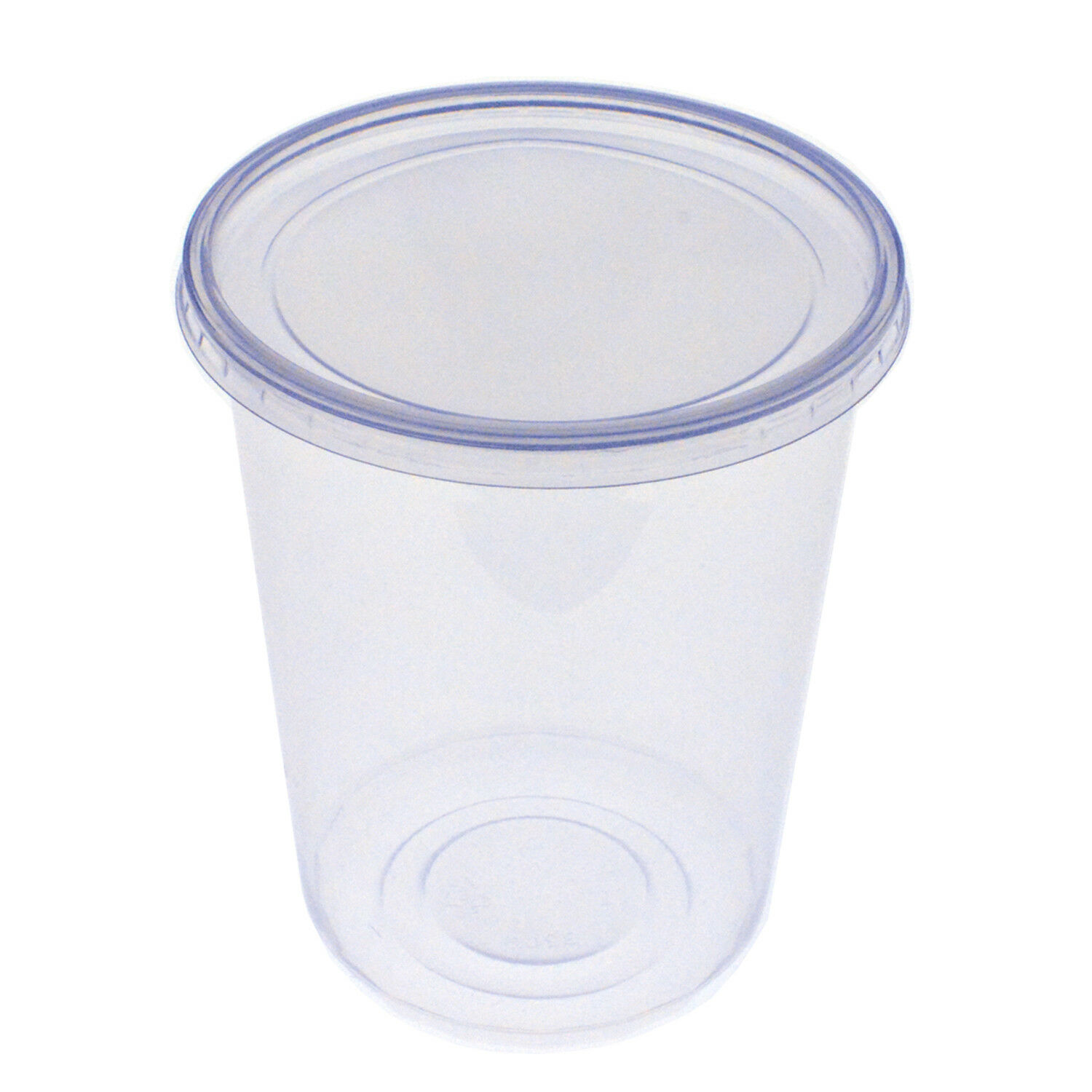 32 oz Round Plastic Deli Food Containers with Lids BPA FREE- FREE SHIPPING