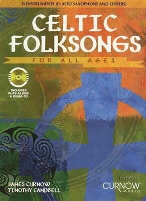 Celtic Folksongs For All Ages Alto Sax Eb Instruments Music Book &playalong Cd 100% High Quality Materials Musical Instruments & Gear Musical Instruments & Gear