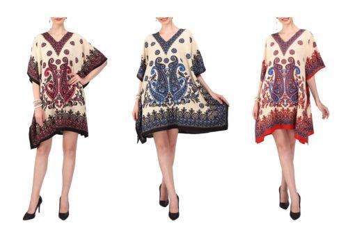Miss Lavish Kaftan Tunic Dress Evening Kimono Style Free Size Top