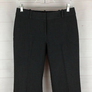 Talbots-Curvy-womens-size-4P-stretch-dark-gray-mid-rise-straight-career-pants