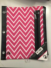 Studio C 3 Ring Binder Pocket Storage Pouch With Two Zippered Pockets New