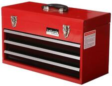 Halfords Professional Tool Chest Red 3 Drawer Metal Portable Friction Slide