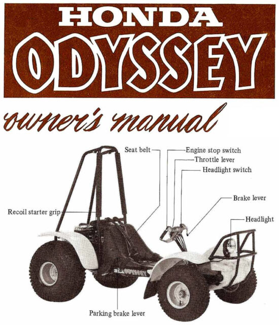 1983 Honda Fl250 Odyssey Atv Owners Manual