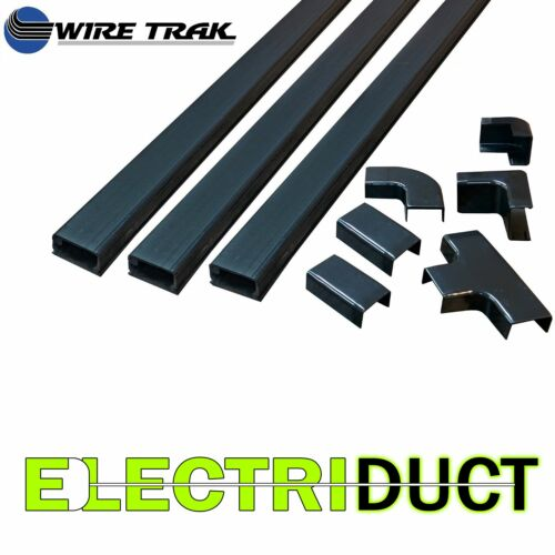 Beige PVC Lachting Raceway Kit Cable Wire Cord Management White Black