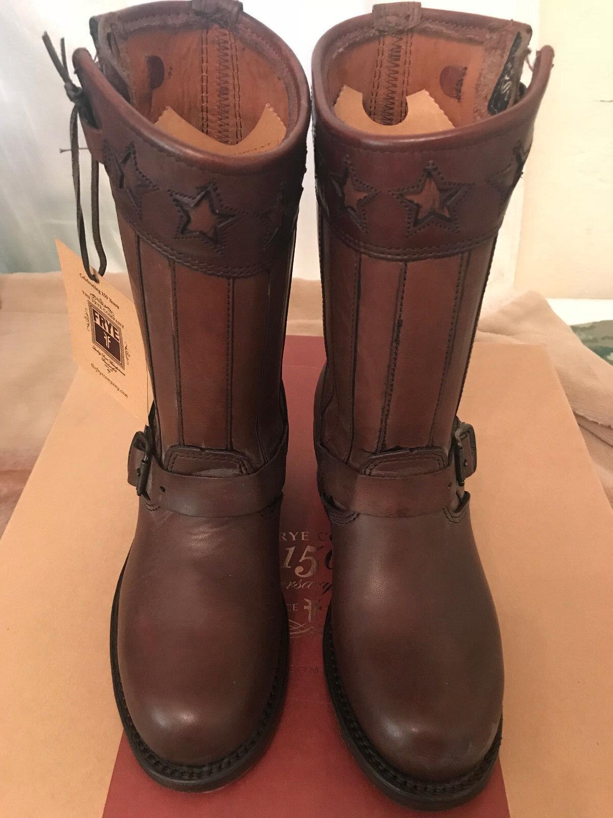 Frye Engineer Americana Americana Americana corto para mujer botas Marrón DK, tamaño 6M, Nuevo En Caja 52755b