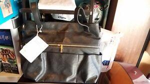Diaper Bag Black Vegan Leather