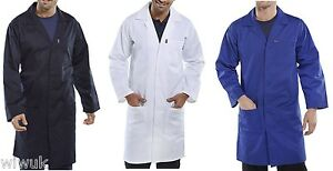 Warehouse Laboratory Lab Coat / Cow Gown Navy or White | eBay