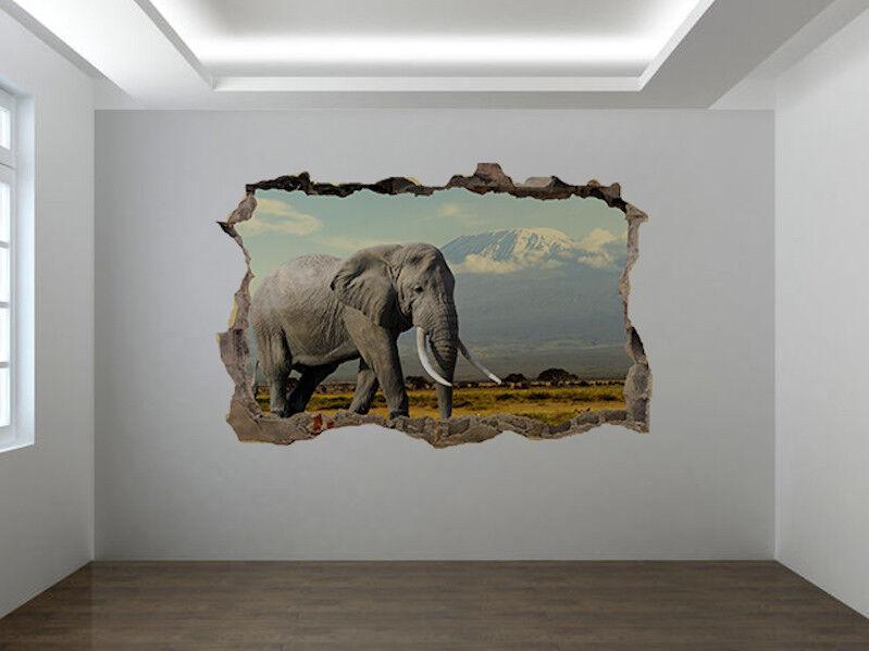 Elefante in National Park Foto Buco in Adesivo da Parete Murale (47628609)