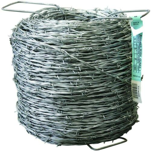 12-1//2 Gauge 2-Point Class I Barbed Wire Fencing Livestock Barriers 1320 ft