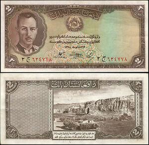Afghanistan 2 Afganis. AUNC++ ١٣١٨ (1939) Billet de banque Cat# P.21a