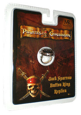 Genossenschaft Jack Sparrow Button Ring Schmuck Fluch Der Karibik Piraten Kostüm Master Replica
