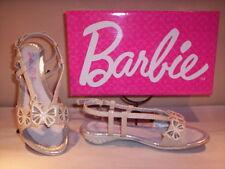 Scarpe sandali eleganti cerimonia Barbie bambina ragazza shoes basse bianche 34