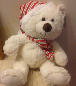 Animal Alley Plush Stuffed Christmas White Soft Teddy Bear Doll 16""
