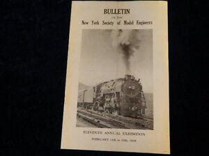 Vtg 1939 New York Society of Model Builders 11th Annual Exhibition Bulletin  R51