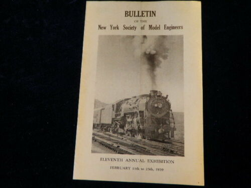 Vtg 1939 New York Society of Model Builders 11th Annual Exhibition Bulletin R51