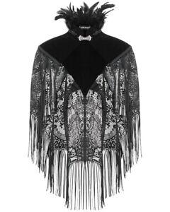 Dark In Love Gothic Bolero Shrug Top Black Velvet Lace Steampunk VTG Victorian