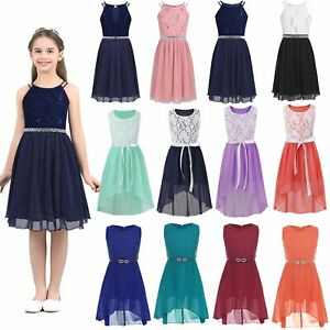 Flower Girls Lace Dress Bridesmaid Wedding Formal Party Graduation Gown Dresses Ebay