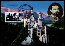 100.Todestag König Ludwig II. von Bayern. Karte. SoSt. Schwangau. BRD 1986