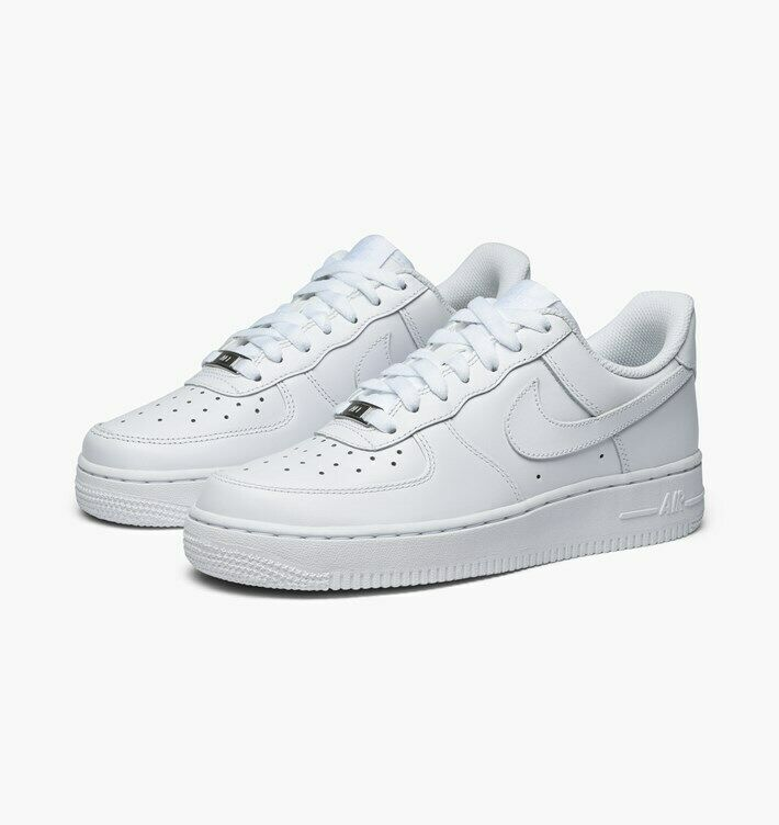 Nike Air Force 1 07 LE Low All White 315115-112 Womens sz 5-11