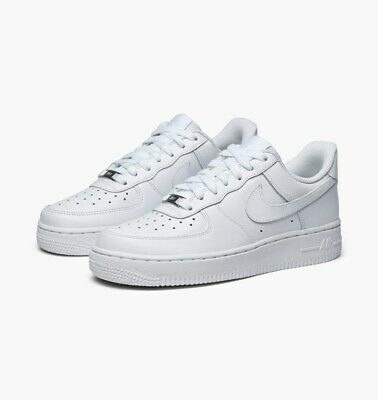 Nike Air Force 1 07 Low All White 315122 111 Mens Ebay