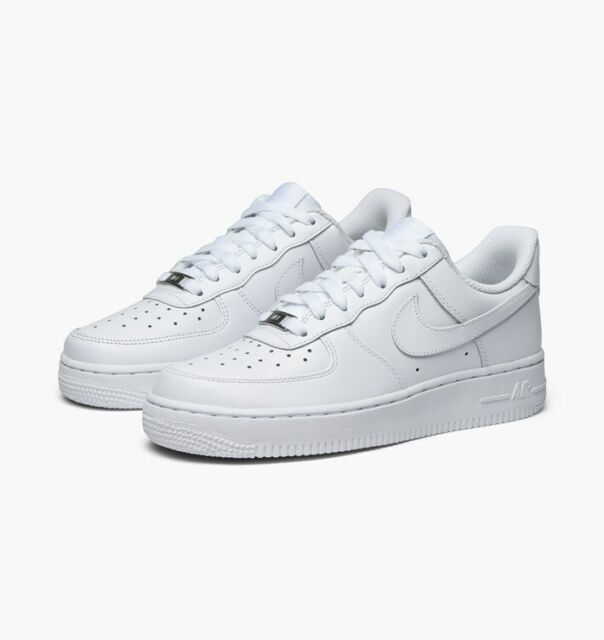 Nike Air Force 1 07 LE Low All Triple White 315115 112 Womens 5 11