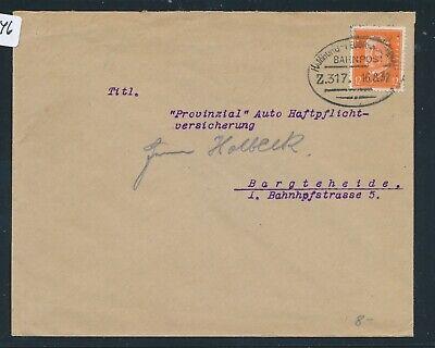 100% Wahr 35246) Bahnpost Ovalstempel Hamburg - Neubrandenburg Z.317, Brf 1932