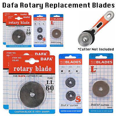 DAFA Rotary Cutter Spare Replacement Blade 2 x 45mm 2 x 60mm Fits OLFA /& FISKARS
