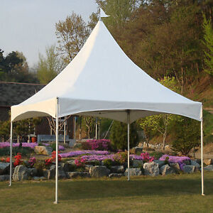 Image is loading 10x10-10x13-12x12-White-Pagoda-Marquee-Outdoor-Tent- & 10x10 10x13 12x12 White Pagoda Marquee Outdoor Tent High Peak ...