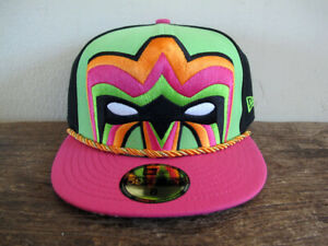 RARE-Ultimate-Warrior-WWE-59FIFTY-New-Era-Fitted-Cap-sz-8-hat-wwf-nwo-wrestling