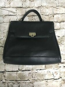 Worthington Women S Vintage Black Hand Bag With Clasp And Long