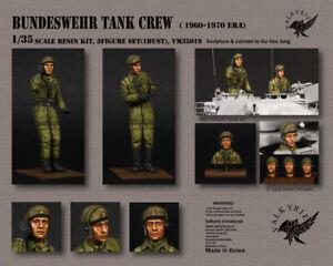 1-35-Masstab-Harz-Modell-Satz-Bundeswehr-Panzerbesatzung-1950-60-Era