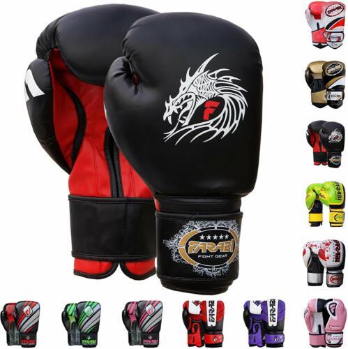 Farabi Boxing Gloves 10oz 12oz 14oz 16oz Boxing Gloves for Training Punching Spa