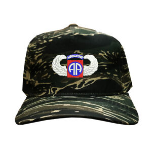 ae099dc6ee8 100% Cotton Tiger Camo Camouflage 5 Cap Hat U.S. 82ND AIRBORNE WING ...