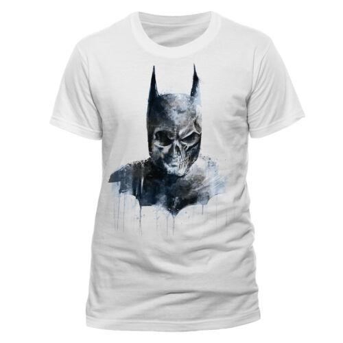 Official Batman Gothic Skull T Shirt White DC Comics  NEW Dark Knight