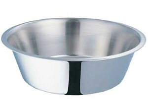 800007 Stainless Steel Standard 1 Pint Bowl Cage Cup Dish Bird Dog Food Water