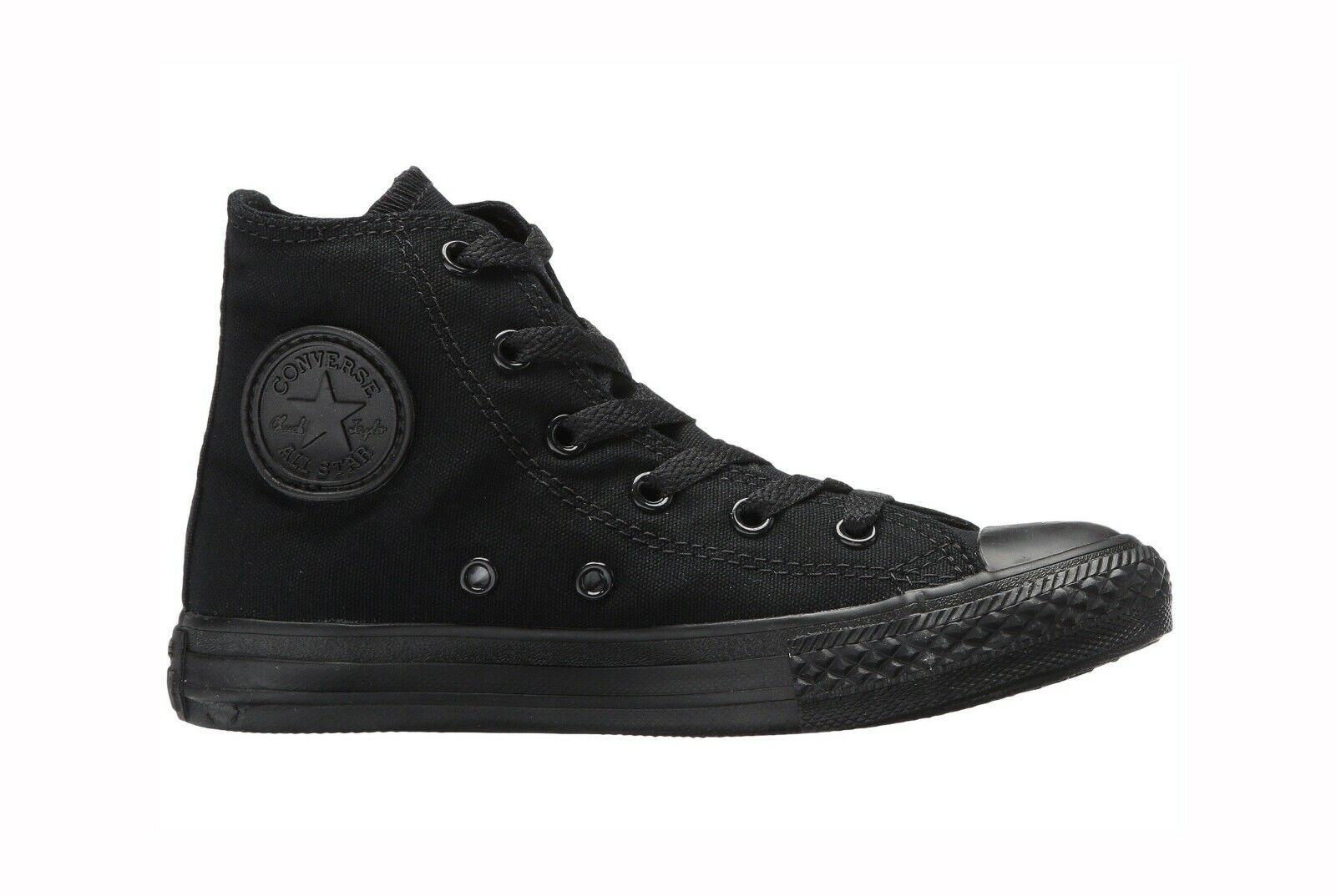 CONVERSE All Star Chuck Taylor Hi Top BLACK MONOCH 3S121 KIDS Unisex Sneakers