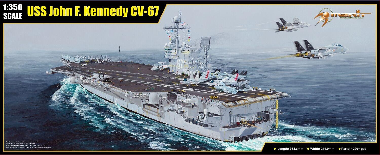 PORTE-AVIONS USS JOHN F. KENNEDY (CV-67)- Kit MERIT INTERNATIONAL INTERNATIONAL INTERNATIONAL 1 350 n° 65306 4ed65b