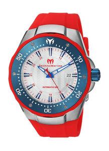 wachawant: TechnoMarine TM215090 Sea Manta Automatic 48mm Blue Bezel Men's Watch