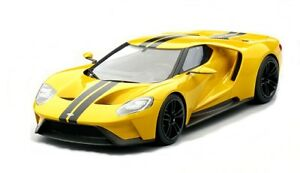 Ford Gt Triple Jaune Los Angeles 2015 Top Vitesse Modèle 1:18