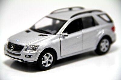 Mercedes-Benz ML350 Model Car 1:36 Toys Open two doors Silver New Alloy Diecast