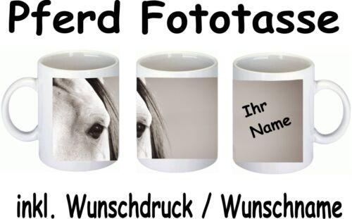 Wunschname Wunschtext Fototasse Tassendruck Sublimation Tasse mit Druck Pferd