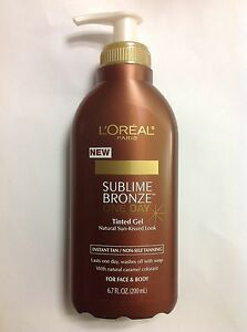 L-039-OREAL-SUBLIME-BRONZE-ONE-DAY-TINTED-GEL-TANNING-6-7-OZ-NEW