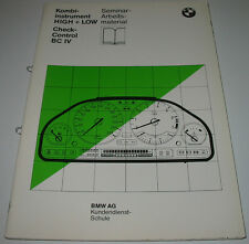 Schulungsunterlage BMW Kombiinstrument High + Low Check Control Bordcomputer IV!