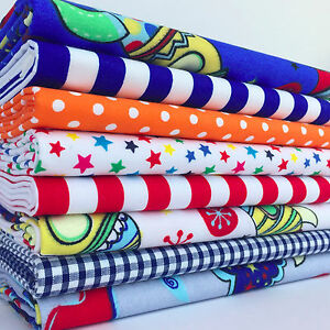 Rockets and space themed polycotton fabrics per 1 2 metre for Space themed fabric